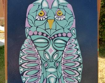 Midnight Owl 12x16