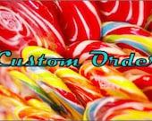 Custom order 5 triple layer ocean colors Ombre' / Mermaid / Ribbon / Monogramed