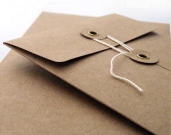 Kraft String-Tie Envelope 4 1/8 x 9 1/2