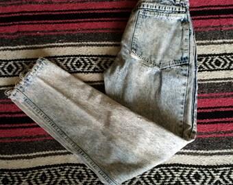 Vintage Distressed Acid Wash Denim Jeans