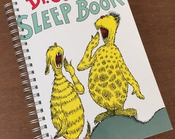 The Sleep Book Dr. Seuss Recycled Journal Notebook