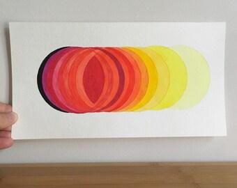 "Original Watercolor Painting, ""Solar Eclipse"""