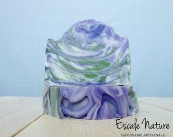 Handmade Lilac and hemp soap, Olive oil soap