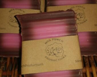 Chocolate Covered Cherry handmade soap vegan