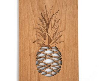 Pineapple Wood Card