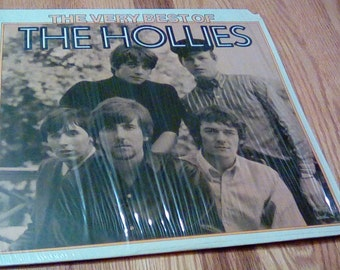 Vintage Very Best of the Hollies Vinyl Record Album 1975 Rock Bus Stop Here i Go Again Just One Look Lucille Pay You Back