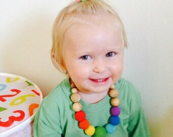 25% off Rainbow crochet necklace for little fashion girl