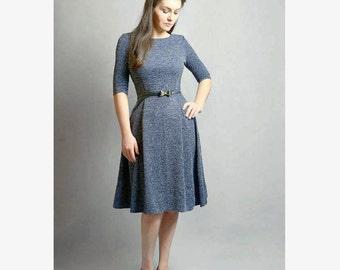 Navy jersey dress, Midi dress, size M, Sample sale