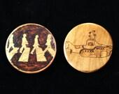 Herb Grinder - Woodburned Beatles Themes