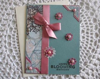 Handmade Greeting Card: Blooming Birthday