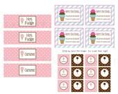 Ice Cream Labels for Teacher Gift