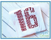 INSTANT DOWNLOAD 2594 Sixteen Championship Dates design in digital format for embroidery machine by Applique Corner