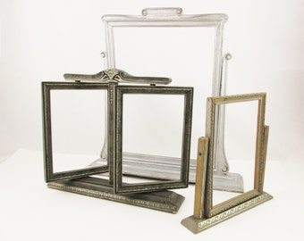 Painted Wood Frames - Your Choice -  Three Different Tilting/Swiveling Frames - 1920s to 1940s - Frames on Stands - Tilt - Shift - Swing