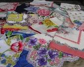 Vintage Floral Hankies Lot Of Twenty Two