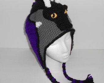 Hand Crocheted Dragon Hat