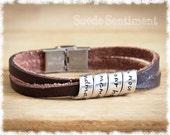 Womens Personalized Bracelet • Best Friend Gift • Friendship Jewelry • Long Distance Friendship • Graduation Gift