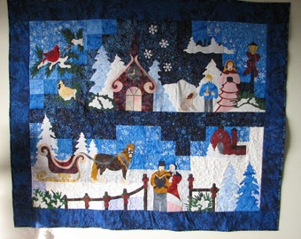 Laurel Burch Quilt Quilted wall hanging Christmas wall : handmade quilted wall hangings - Adamdwight.com