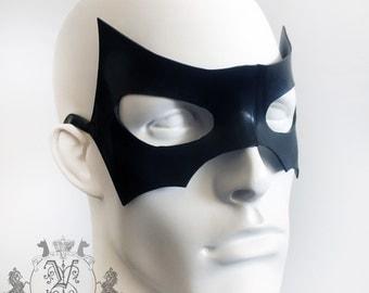 Mens Latex Rubber Batman Bat Masquerade Face Mask Halloween By Vex Latex