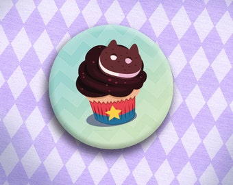 Crystal Cupcakes - Steven and Cookie Cat Cupcake Button