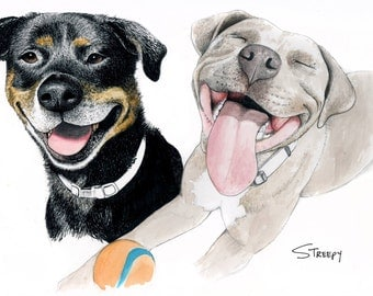 Custom Pet Portraits (Original Artwork)
