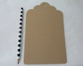 24 Giant Paper Tag Die Cut Party Favor Tags Paper Craft Supply Lot Kit Kraft