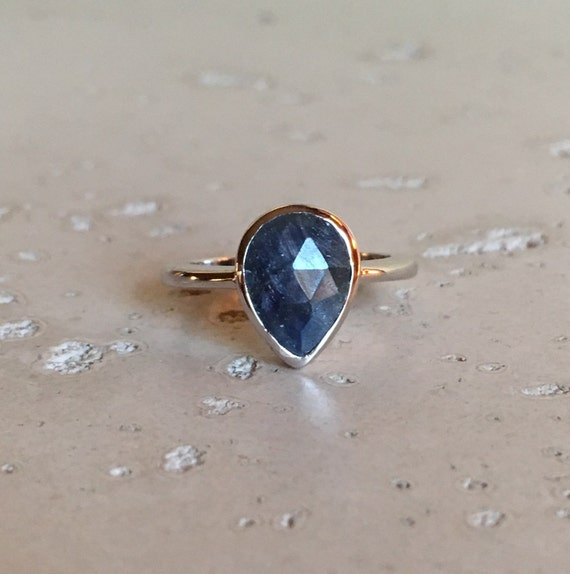 Promise Ring Small Blue Sapphire Rings Silver Sapphire Ring