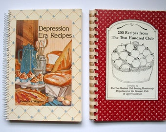 Vintage spiral bound cookbooks, set of 2