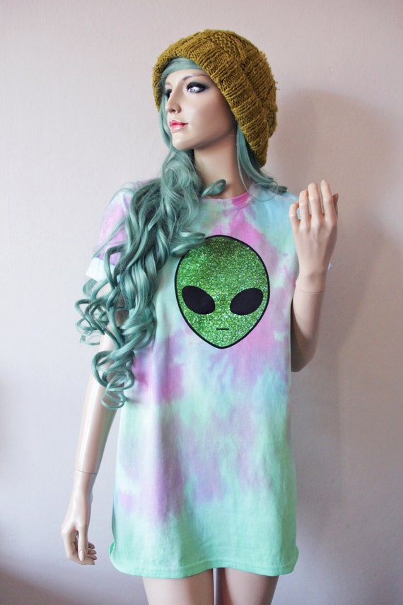 Pastel Alien Tie Dye T-Shirt hipster tumblr cute gift