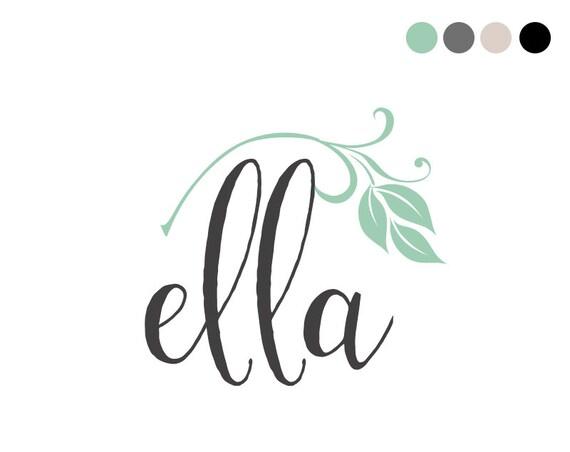 Calligraphy logo design cursive typography