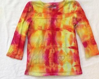 Funky Tie Dye Girls Longsleeve shirt size 3T K112