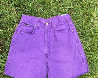 Vintage Purple High Waisted Jean Shorts