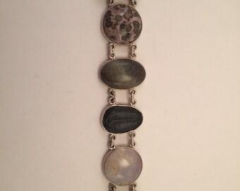 SALE Vintage never worn treasure bracelet 925 silver trilobite etc