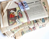 Bundle  of french old papers -ephemera- handwritten letter-