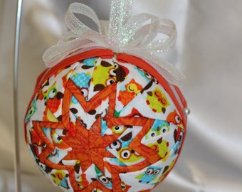 Owl Quilted Ornament
