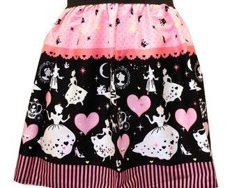 Pink Cinderella Border Full Skirt