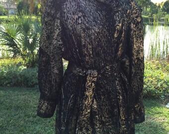 LEATHER PAINTED JACKET Eros of Israel Size Large Vintage Leather Painted Jacket Made in Israel at Ageless Alchemy