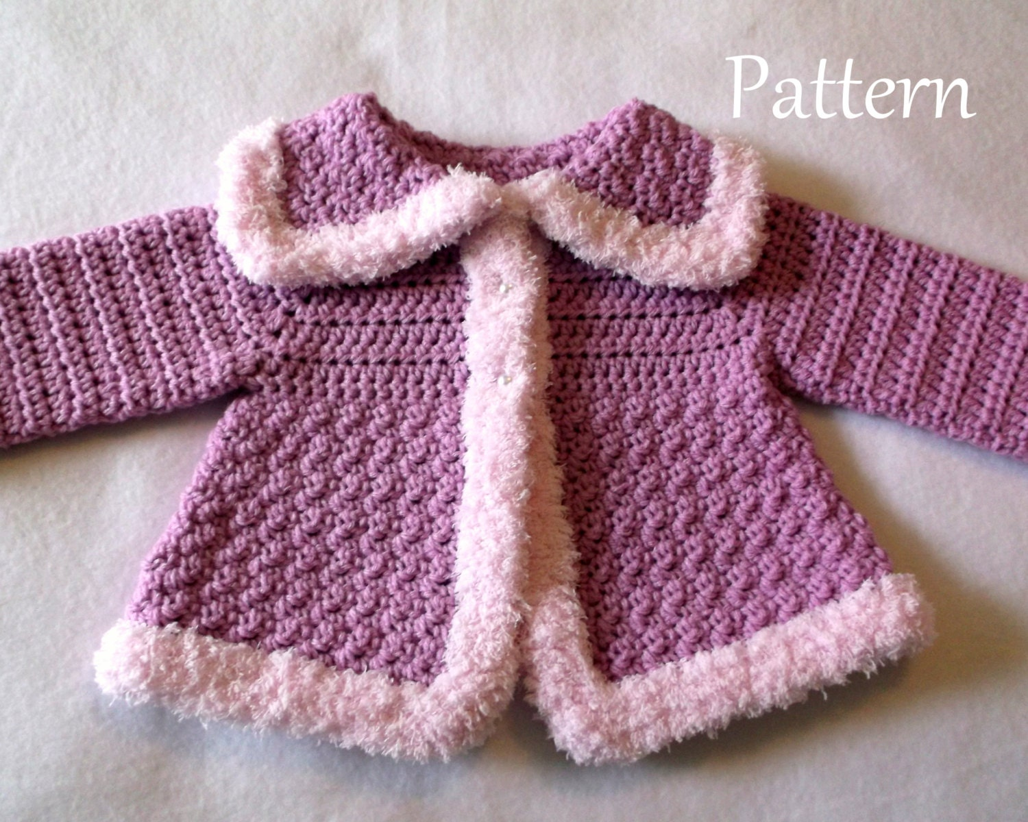 Crochet PATTERN The Charlie Baby Girls Sweater Pattern