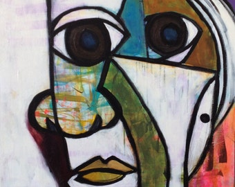 Large Abstract Figurtive Art/Painting Picaso