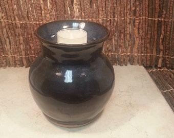 READY TO SHIP - Pottery Cremation Urn - Wheel Thrown Clay - Keepsake Cremains Jar For Family Member or Pet Ashes -Igneous Flared-Up to 36 lb