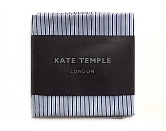 Twin blue stripe pocket square