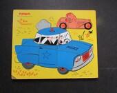 Playskool Police Car Puzzle Vintage Preschool Model 360-21