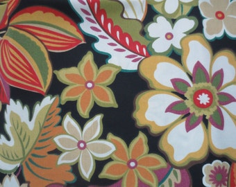 OUTDOOR Pillow Cover in a Black Floral Print
