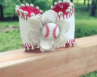 Baseball Cuff Bracelet - It's all about that BLING!