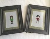 Daria and Jane Best friend cross stitch