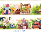 1 Roll of Limited Edition Washi Tape: Cute Mice Harvest Season