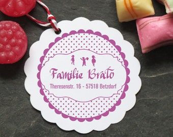 Families Stempel polka dots personalized 40mm ø