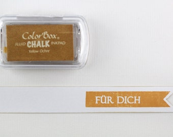 ♥♥ Stamp pads chalk Ochre yellow - yellow ochre