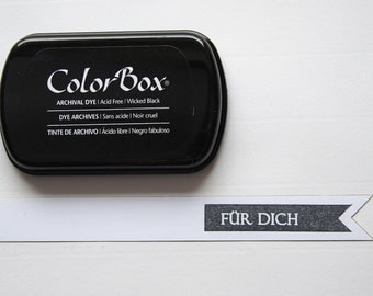 Black ink stamp pads archival ink ColorBox