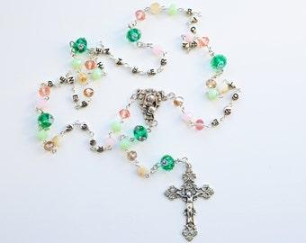Contemporary Handmade Rosary--Statement Rosary--Personalized--Heirloom Rosary--Catholic--Prayer--Faith--Love--Mothers Rosary--Family--Custom