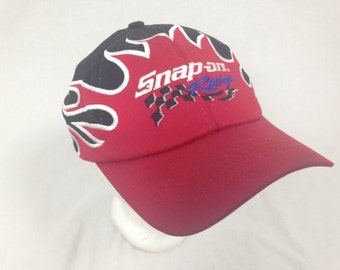 flame fire snap on hat